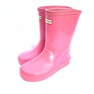 Hunter Boots pink size 13